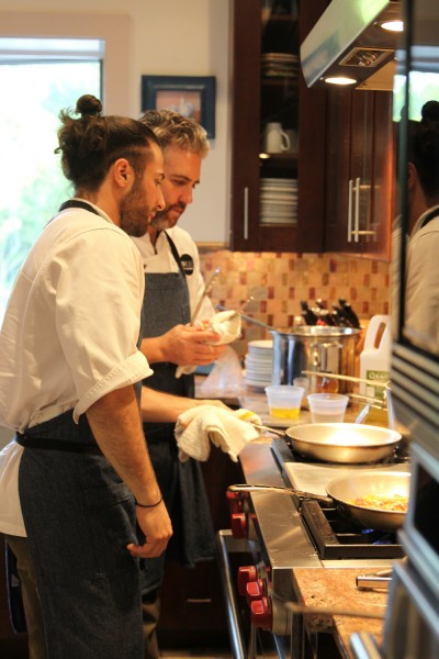 Tastes of the Town: Chefs Antimo and Scott of Arde Osteria.  Photo by Kate Sorrento