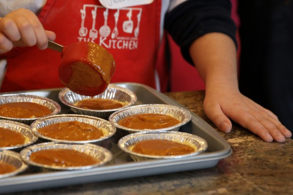 Kids Cook Thanksgiving:  Mini Pumpkins Pies.  Photo by Kate Sorrento